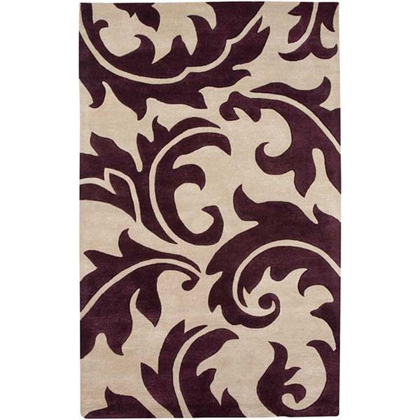 Hand-Tufted Wool & Art Silk Area Rug (5' x 8')