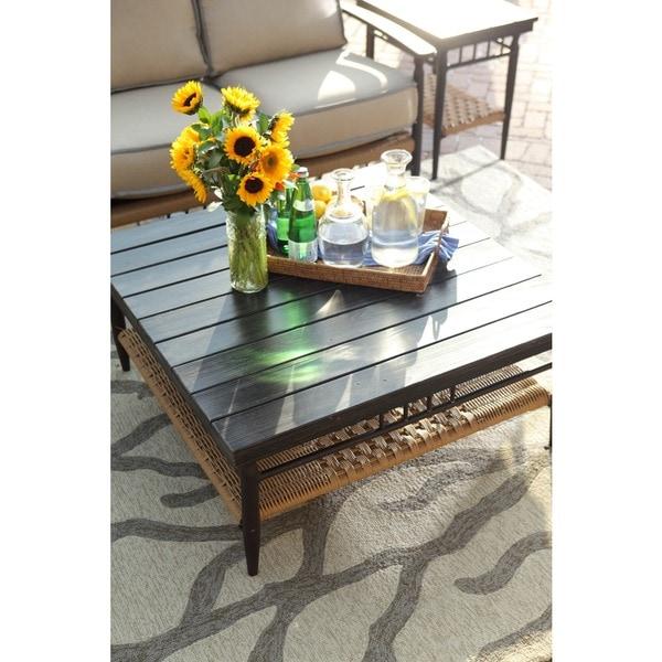 Hand-hooked Grey Indoor/ Outdoor Area Rug (2' x 3')