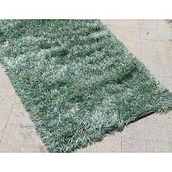 Hand-woven Solid Green Shag Rug (8' x 10') - Thumbnail 1