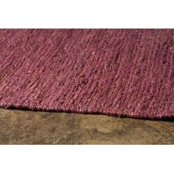 Hand-woven Purple Hemp Rug (8' x 10')
