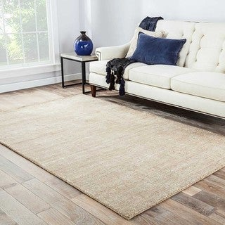 """Minke Handmade Solid Beige/ Tan Area Rug (8' X 10') - 7'10"""" x 9'10"""""""