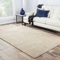 Minke Handmade Solid Beige/ Tan Area Rug (8' X 10') - 8' x 10'