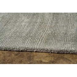 Hand-Woven Grey Wool and Art Silk Area Rug (8' X 10') - Thumbnail 2