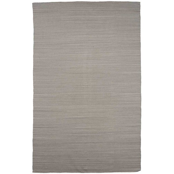 Flat Weave Solid Ashwood Wool Rug (5' x 8')