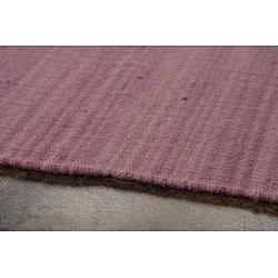 Flat Weave Pink Wool Rug (8' x 10') - Thumbnail 2