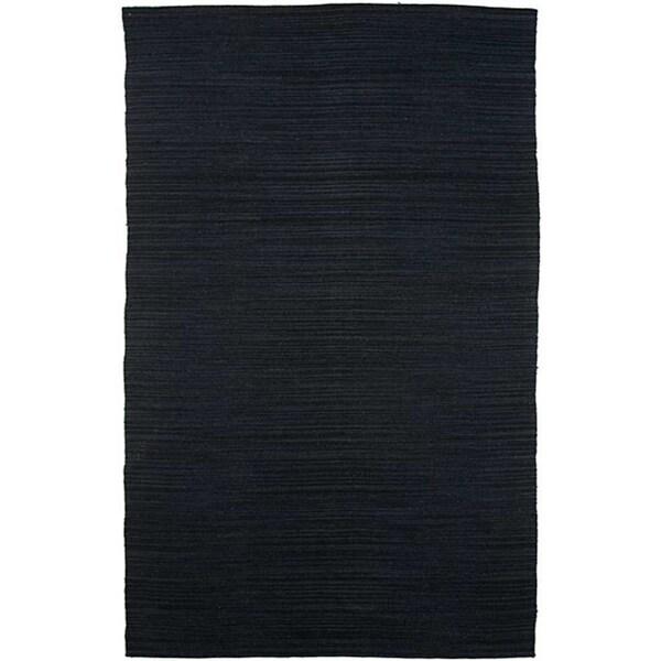 Flat-weave Blue Wool Rug (4' x 6')