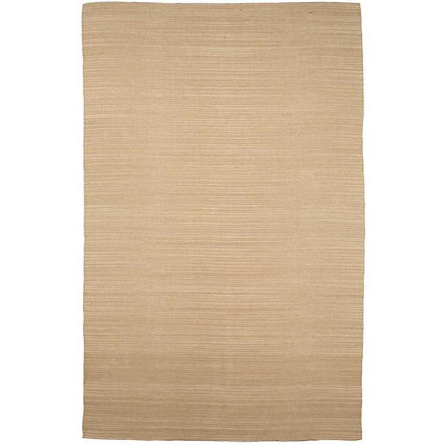 Flat Weave Cream Wool Rug (4' x 6')