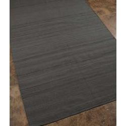 Flat Weave Grey Wool Rug (5' x 8') - Thumbnail 1