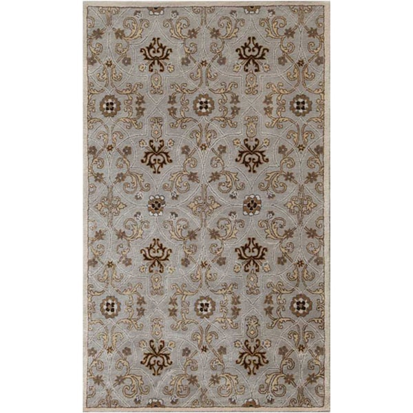 Hand-tufted Ashwood/ Ivory Wool Rug (8' x 11')