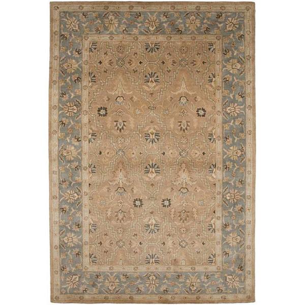 Hand-tufted Sand Brown/ Grey Wool Rug (8' x 11')