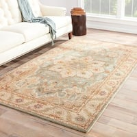 "Maison Rouge Patricia Handmade Medallion Beige/ Blue Area Rug - 9'6"" x 13'6"""