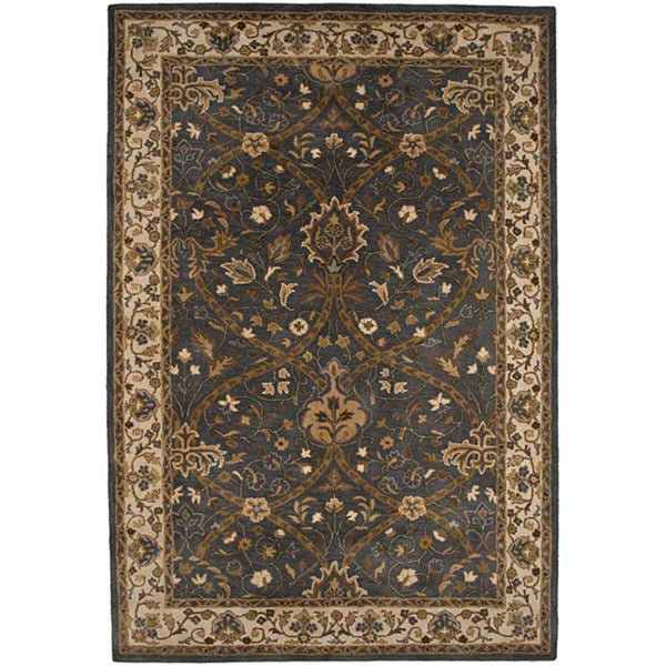 Hand-tufted Blue Wool Area Rug (8' x 11')