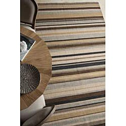 Flat Weave Ivory/ Black Wool Rug (9' x 12') - Thumbnail 2