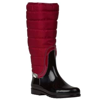 Burberry Women's Red Quilted Insulated Rain Boots