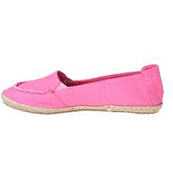 Refresh by Beston Women's 'Lala' Fuchsia Canvas Boat Shoes