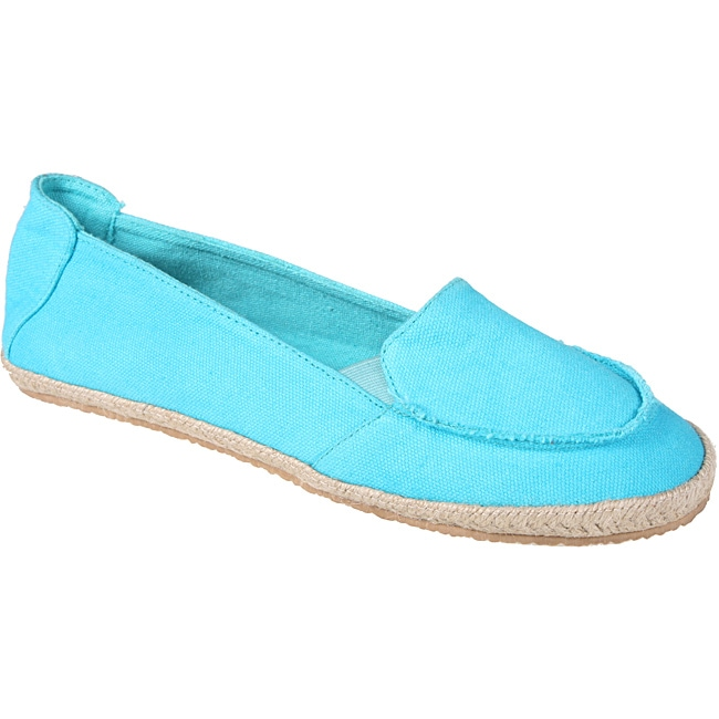 Refresh by Beston Women's 'Lala' Blue Canvas Boat Shoes
