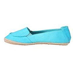 Refresh by Beston Women's 'Lala' Blue Canvas Boat Shoes - Thumbnail 1