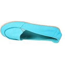 Refresh by Beston Women's 'Lala' Blue Canvas Boat Shoes - Thumbnail 2