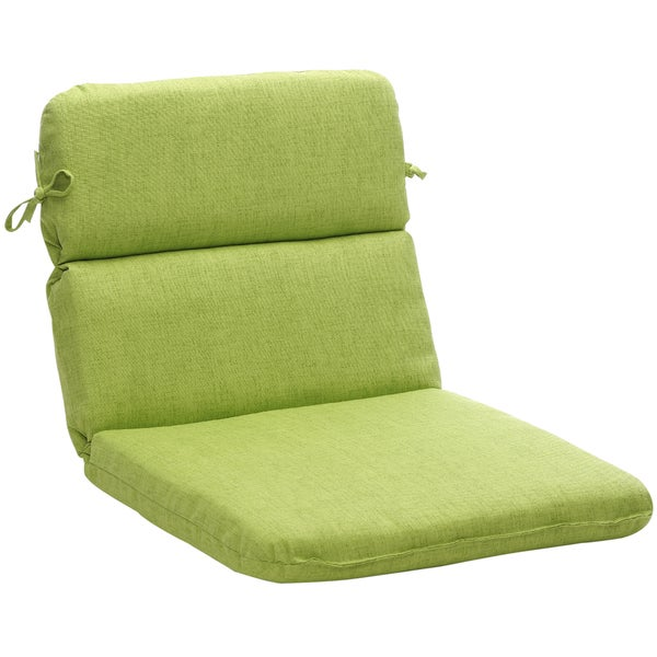 outdoor green textured solid rounded chair cushion free shipping