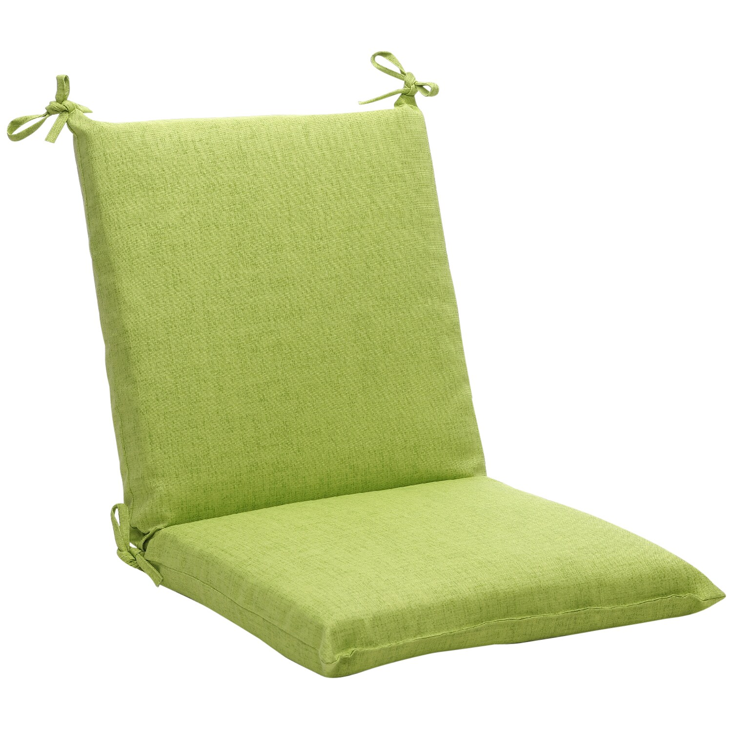 Squared Solid Green Textured Outdoor Chair Cushion Free Shipping