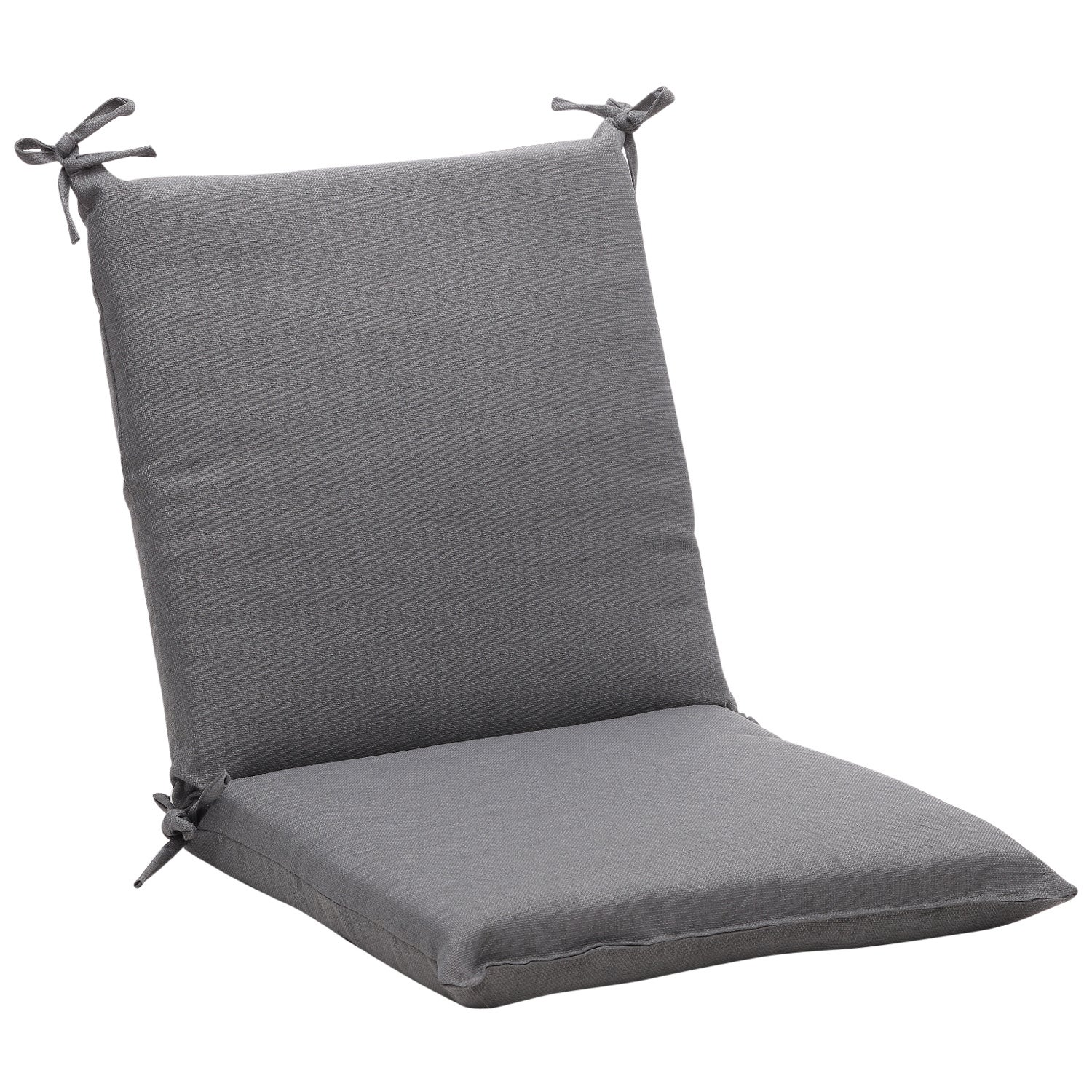 Squared Solid Gray Textured Outdoor Chair Cushion Free