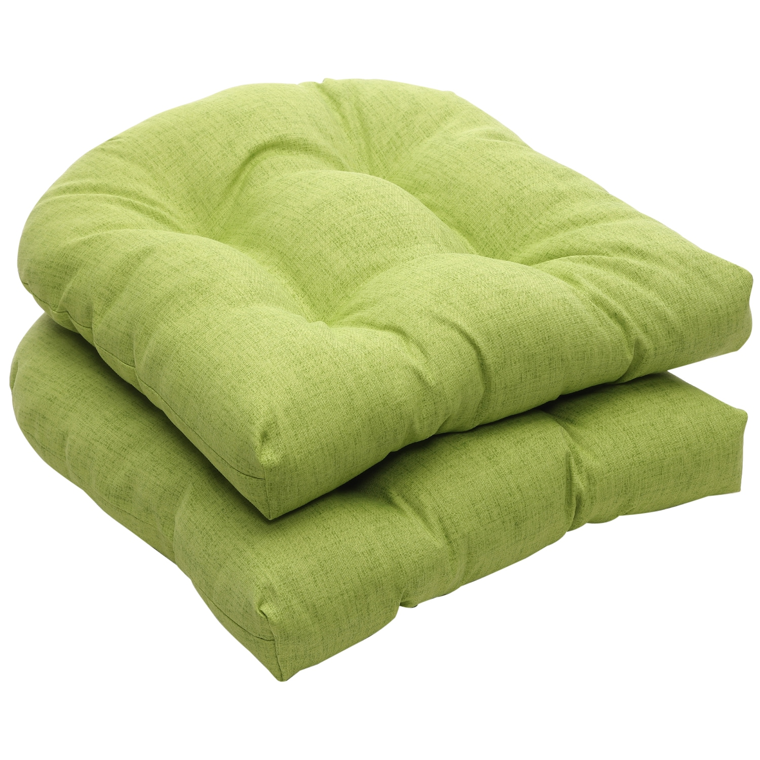 Outdoor Green Textured Solid Wicker Seat Cushions Set of 2 Free Shipping Orders Over $45