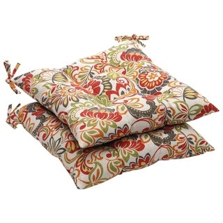 Link to Multicolored Floral Outdoor Tufted Seat Cushions (Set of 2) Similar Items in Patio Furniture
