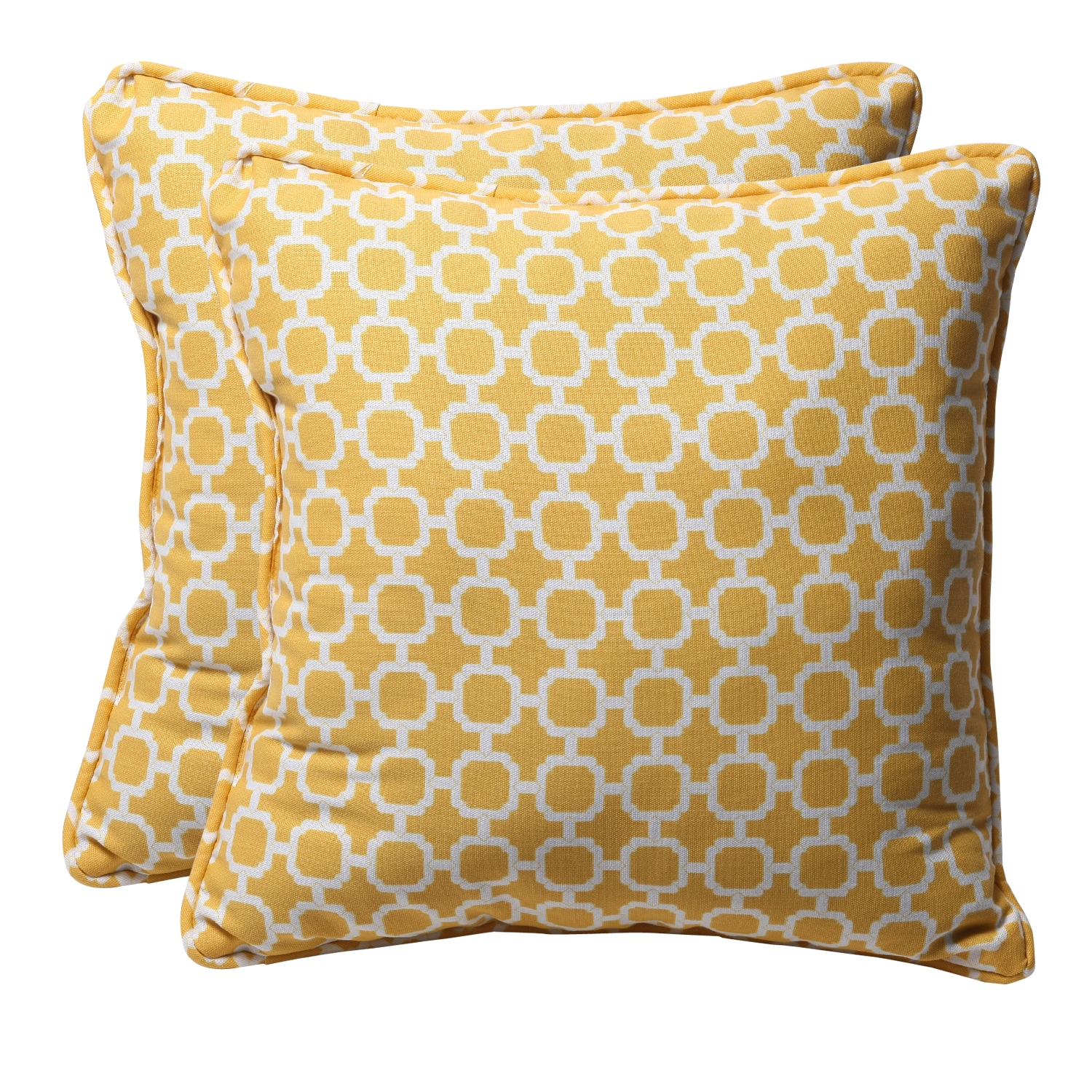 Shop Decorative Yellow White Geometric Square Outdoor