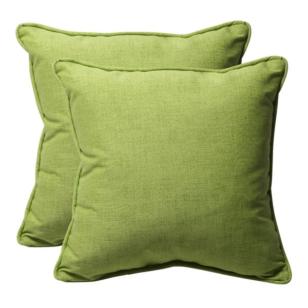 Shop Decorative Green Textured Solid Square Outdoor Toss Pillows