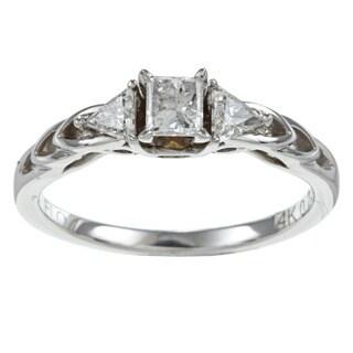 14k White Gold 1/2ct TDW Diamond Promise Ring (H-I, I1-I2)