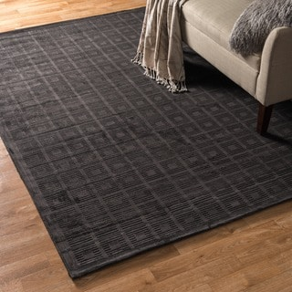 Madison Charcoal Grey Chenille Rug 9 2 X 12 7 Free