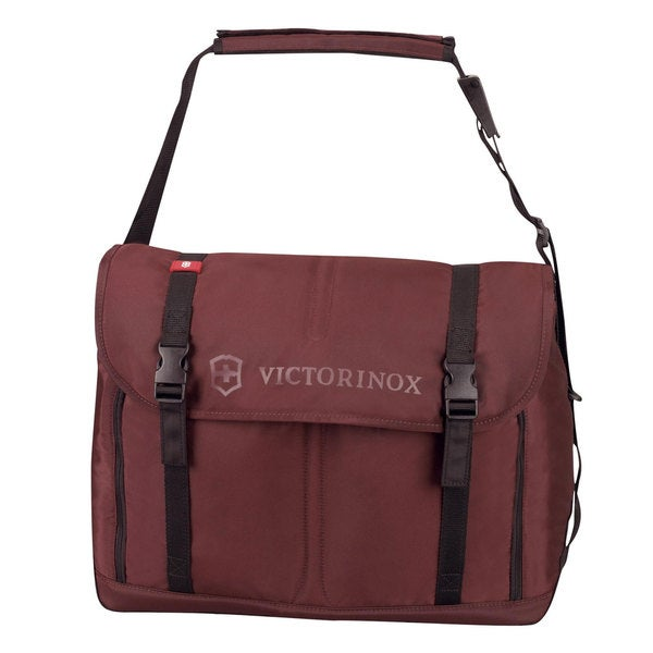 Shop Victorinox Swiss Army Seefeld Maroon Weekender Travel Messenger Bag - On Sale - Free ...