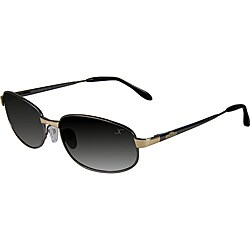 Xezo Men's 'Cruiser 330' Limited-Edition Titanium Sport Sunglasses - Black