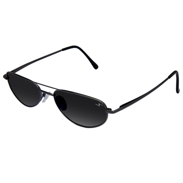 mini aviator sunglasses  Xezo Men\u0027s \u0027Intrepid 6600\u0027 Limited-Edition Titanium Mini Aviator ...