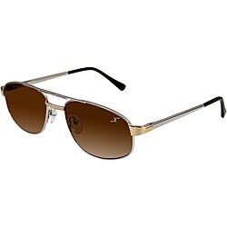 Xezo Men's 'Airman 5200' Titanium Aviator Sunglasses