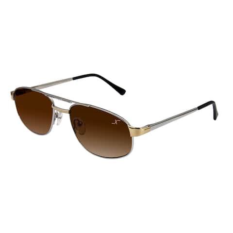 Xezo Men's 'Airman 5200' Titanium Aviator Sunglasses