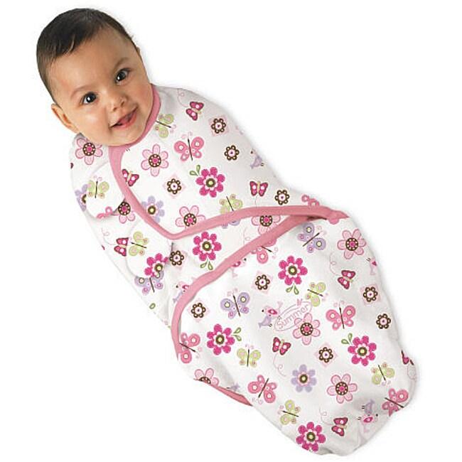 5800f9e59e27 Shop Summer Infant Girl s Small SwaddleMe Flutter Flowers Blanket ...