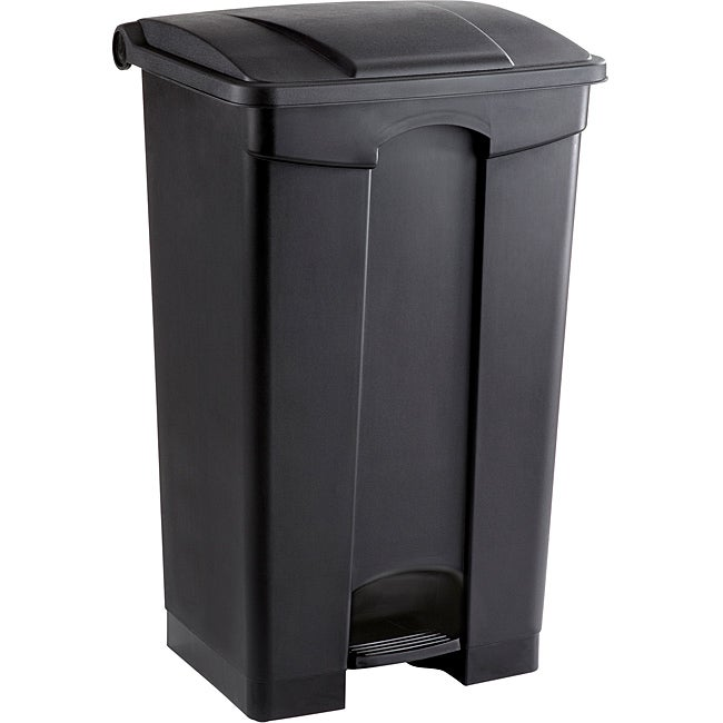 Safco 23 gal. Plastic Step-on Waste Receptacle (Black), Size 15+ Gallons