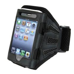 INSTEN Black Deluxe Armband for Apple iPhone/ iPod Touch - Thumbnail 0