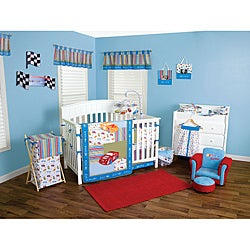 Trend Lab Nascar 7 Piece Crib Bedding Set Free Shipping