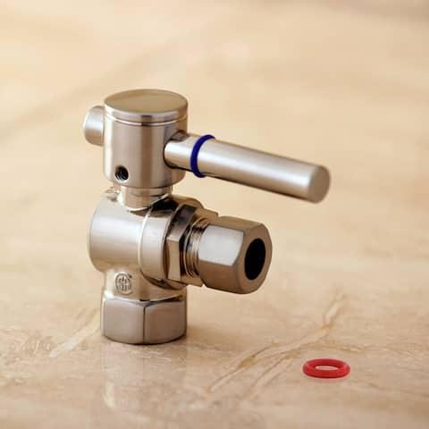 Satin Nickel Bronze Angle Stop 3/8-inch IPS x 3/8-inch OD Compression