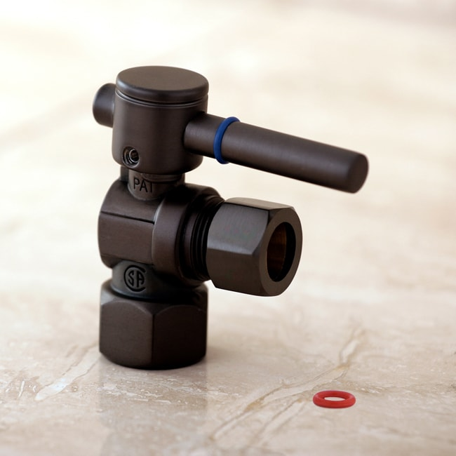 Single-Handle Solid Brass Oil-Rubbed Bronze Angle Valve Stop