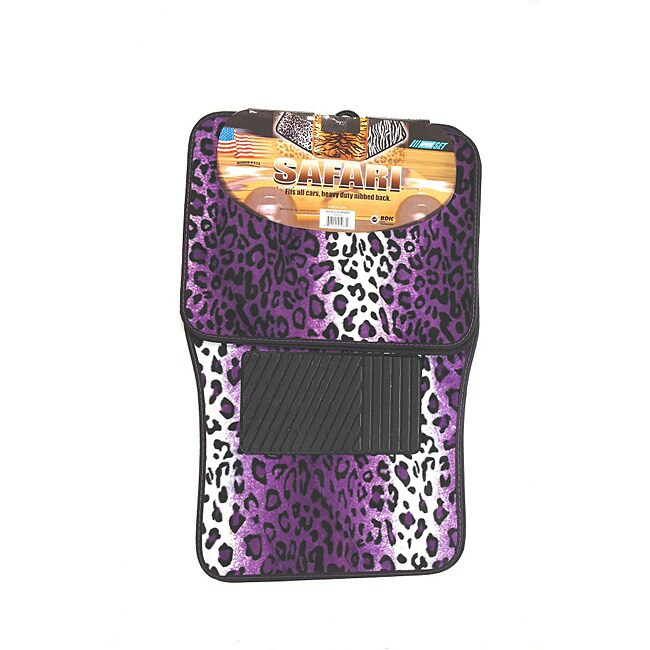 The Car Cover Oxgord Velour / Plush Purple Safari Cheetah...