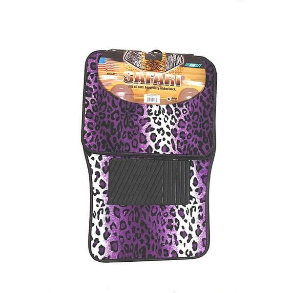 Shop Oxgord Velour Plush Purple Safari Cheetah Leopard