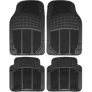 OxGord Black Rubber Heavy-duty All-weather Universal Automotive Floor Mats (Set of 4)