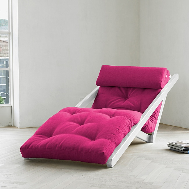 Shop Fresh Figo Pink Futon - Free Shipping Today - Overstock.com ...