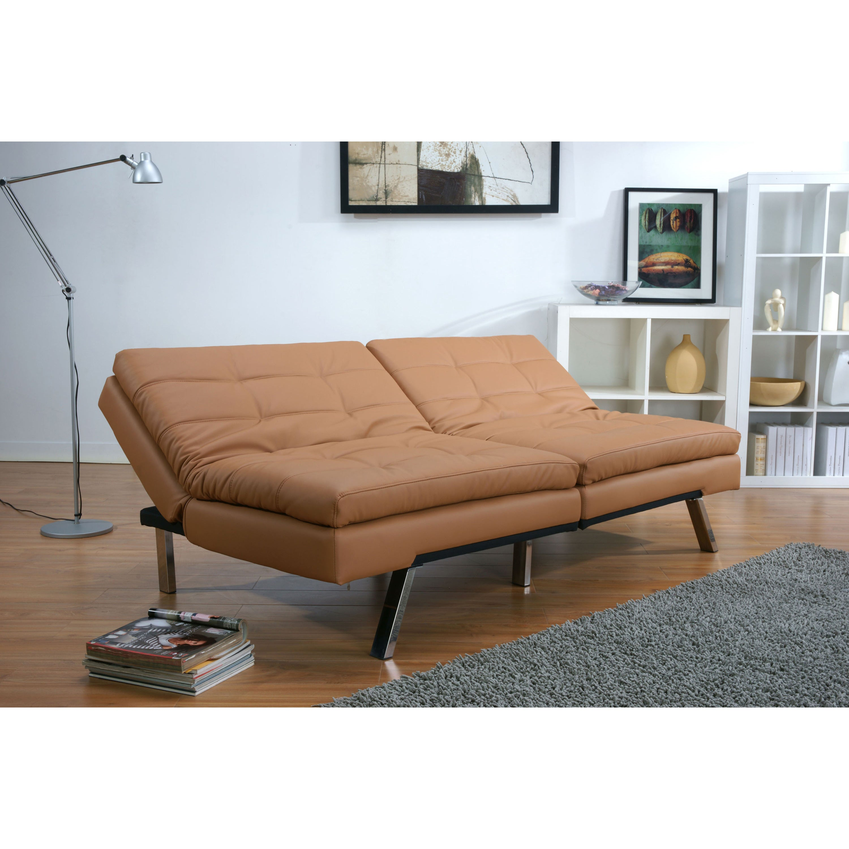 Memphis Camel Double Cushion Futon