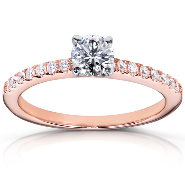 Annello by Kobelli 14k Rose Gold 5/8ct TDW Diamond Engagement Ring (H-I, I1-I2)