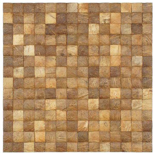 SomerTile 16.5x16.5-in Natural Coconut Convex Wall Tile (Pack of 6)