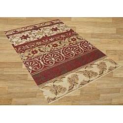 Alliyah Handmade Beige New Zealand Blend Wool Rug (8' x 10') - Thumbnail 1